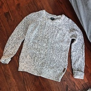 Roots Sweater Grey White
